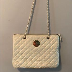 DKNY white leather bag.